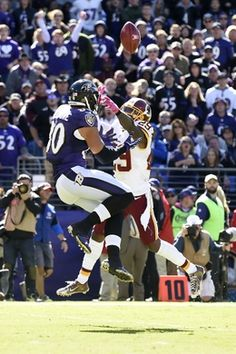 Redskins vs. Reavens  -  Oct 9, 2016:   16-10, Redskins  -     Washington Redskins strong safety Duke Ihenacho (29) breaks up a pass intended for Baltimore Ravens tight end Crockett Gillmore (80) on a fake field goal attempt during the second quarter at M&T Bank Stadium. Mandatory Credit: Tommy Gilligan-USA TODAY Sports