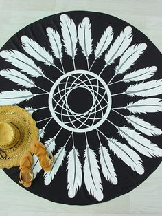 Shop Black And White Feather Print Round Beach Blanket online. SheIn offers Black And White Feather Print Round Beach Blanket & more to fit your fashionable needs. White Beach Cover Up, Beach Covers, White Feathers, Beach Blanket, Feather Print, Love To Shop, Beach Towel, Dream Catcher, Black And White