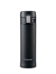 Zojirushi Stainless Steel Mug, 16-Ounce, Smoky Blue: Stainless steel vacuum insulation keeps beverages hot or cold for hours. Wide mouth accommodates full size ice cubes. Compact design takes up minimal space while maximizing capacity. #Travel_Mug #Zojirushi
