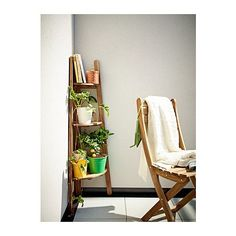 it's only 19 at Ikea! ASKHOLMEN Plant stand IKEA You can easily protect your furniture against wear and tear by reglazing it on a regular basis, for example once . Home Living, Apartment Living, Living Spaces, Living Room, Ikea Plants, Air Plants, Cactus Plants, Small Outdoor Spaces, Ikea Outdoor
