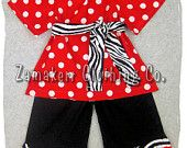 Custom Boutique Clothing Red Polka Zebra Peasant Dress Top Black Ruffle Pant Outfit Set 3 6 9 12 18 24 month size 2T 2 3T 3 4T 4 5T 5 6 7 8