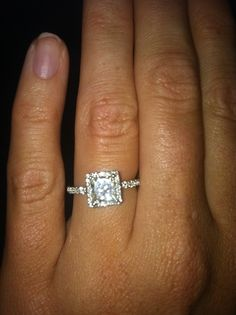 My perfect, gorgeous engagement ring. Jewelers Trade Shop Downtown Pensacola Fl. #engagement #wedding #ring #diamond