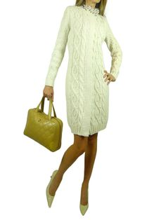 MAX MARA Ivory Cable Knit Long Sweater. 6 $475 http://www.boutiqueon57.com/products/max-mara-ivory-cable-knit-long-sweater-6