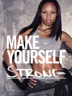 Nike Track Club ad of Allyson Felix who set records with the and this past weekend at Penn Relays Fitness Inspiration, Weight Loss Inspiration, Body Inspiration, Workout Inspiration, Fitness Quotes, Fitness Tips, Fitness Motivation, Health Fitness, Funny Fitness