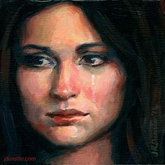 J Dunster - Sad Tears- Oil - Painting entry - October 2013 | BoldBrush Painting Competition