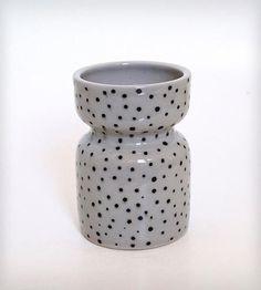 Black and White Polka Dot Vase | Home Decor | Jen E | Scoutmob Shoppe | Product Detail
