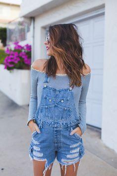Look perfeito para o verão, macaquinho jeans