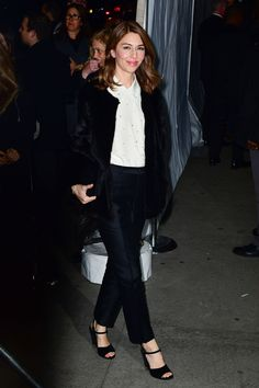 The A-list looks we're loving this week Black Corset Top, Black Sheer Top, Sofia Coppola Style, Looks Style, My Style, Louis Vuitton Dress, Cute Fashion, Fashion Styles, Women's Fashion