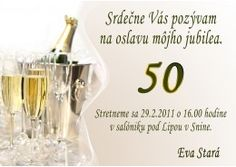 Pozvánka na oslavu jubilea - JU020