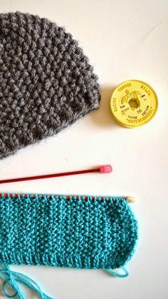 ingthings: Easy knitted cap (cap :)