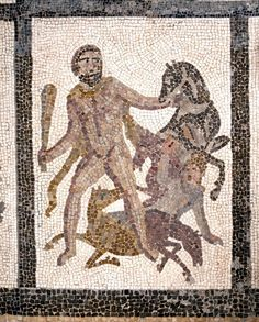 3rd century AD mosaic from Liria, Valencia ~ The Mares of Diomedes (detail)