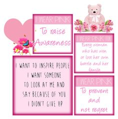 """""""I wear pink"""" by valegarcia-reader on Polyvore featuring arte y IWearPinkFor"""