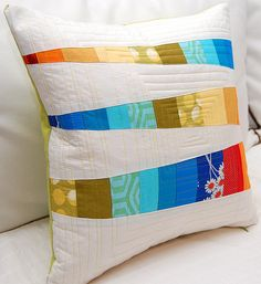 Colorful Bits Pillow from Meringue Designs
