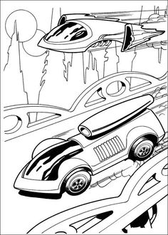 Tegninger til Farvelægning Hot Wheels 7