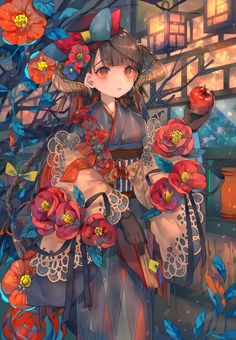 Anime, manga, and video game fan-art artworks from Pixiv (ピクシブ) — a Japanese online community for artists. pixiv - It's fun drawing! Anime Kimono, Manga Anime, Anime Girl Cute, Beautiful Anime Girl, Anime Art Girl, Anime Girls, Manga Drawing, Manga Art, Anime Style