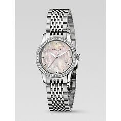25b7d0950f4 Gucci G-Timeless Stainless Steel Bracelet Diamond Watch ( 2