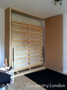 wall bed cupboard open