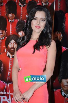 Kristina Akheeva from 'Yamla Pagla Deewana 2' - another foreigner here to try her luck Bollywood at the trailer launch of her film at Sunny Super Sound in Juhu, Mumbai!