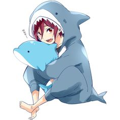 Matsuoka Rin ❤ liked on Polyvore featuring free and anime