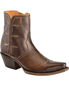 6ea77b30042 Lucchese Womens Shortie and Toe Medallion Western Boot Espresso 65 B US     Learn more
