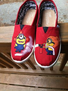 Be-do! Be-do! Be0do!! Youth Minion Despicable Me TOMS by ERNOshoes on Etsy, $65.00