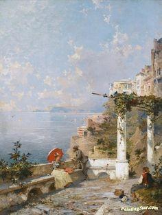 Amalfi Coast Artwork by Franz Richard Unterberger