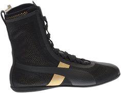 14825c01c2 PUMA Women s Eskiva High EVO Puma Black Gold Sneaker 6 B (M) -