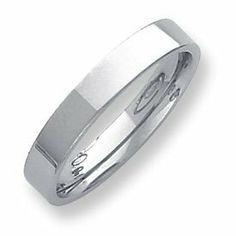 Palladium Flat Comfort Fit 4.00mm Band Ring - Size 12 - JewelryWeb JewelryWeb. $467.00. Save 50% Off!