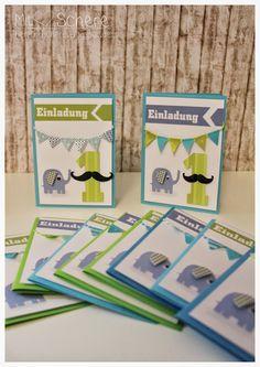 Mit Herz Und Schere: Erster Geburtstag, Einladungen Kindergeburtstag,  Elefant, Mustage