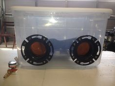 Picture of Low Cost Plastic Blasting Cabinet use  220 grit  PSI is always set to around 65