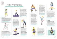 """Marisa Morea was commissioned by Baltimore Magazine to illustrate an article about """"10 Great New Exercises""""."""