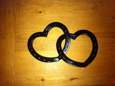 Rustic Horseshoe Hearts, on Etsy, $25.00