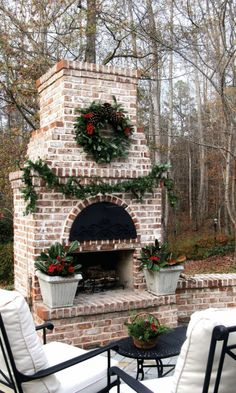 awesome outdoor fireplace ideas, kits, and plans. See modern & DIY outdoor fireplaces with chimneys and designs for inspiration on how to build your own fireplace. #OutdoorFireplaceIdeas #FireplacePatio #StoneFireplace #Fireplace #Outdoor