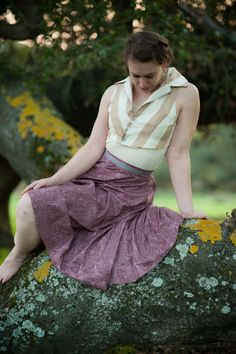 Aubergine fairy skirt by RanunculusMarket on Etsy, $102.00
