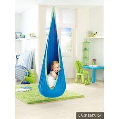 En extérieur ou intérieur, ce nid hamac http://www.hortik.com/banc-hamac-balancelle/654-nid-hamac-pour-enfants-joki-4025122919425.html confortable et sécurisé pour vos enfants à partir de 3 ans !