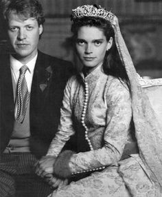 1989 wedding: Charles, Viscount Althorp (later 9th Earl Spencer) and Miss Victoria Lockwood.