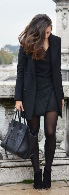 Classic black dress that would look great for work or a first date! Simple but gorgeous.