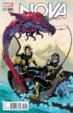 Nova #1 variant cover by Chris Samnee, colours by Matt Wilson *
