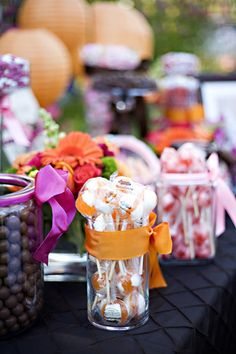 Candy Buffett Photo Inspiration! - Project Wedding I love the idea of having a candy bar