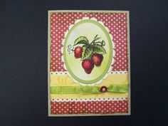Summer Strawberries by hobbydujour - Cards and Paper Crafts at Splitcoaststampers  (Feb'13)