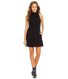 Gianni Bini Marnie Mock Neck Side Pocket Sweater Dress #Dillards