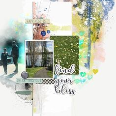 Create an Artsy Layout with a Traditional Template Video Tutorial - Oscraps :: Digital Scrapbooking- 3 photo artsy style scrapbook layout