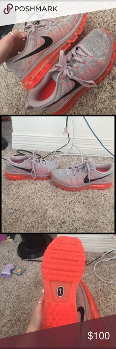 Nike air max flyknits only worn once but they turned out to be too big for me. ask if you have any questions or want more pictures and feel free to make offers! Nike Shoes Athletic Shoes