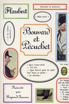 Bouvard et Pécuchet, published by Le Livre de Poche, Paris, 1966. Design: Pierre Faucheux (no credit on cover)