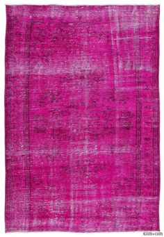K0013754 Over-dyed Turkish Vintage Rug | Kilim Rugs, Overdyed Vintage Rugs, Hand-made Turkish Rugs, Patchwork Carpets by Kilim.com