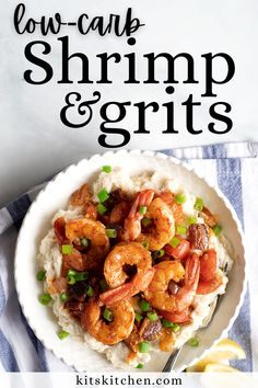 I've made this Shrimp and Grits recipe keto, paleo, and Whole30 by making grits out of cauliflower, almond flour, and coconut milk. And you know what? It's SO DELICIOUS!