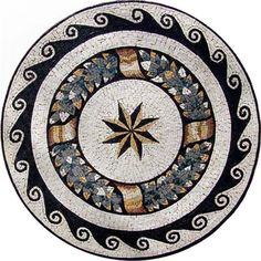 Bring new excitement to your walls and floors with mosaic patterns, bring perspective and dimension to your walls and floors, with geometric mosaic patterns! Marble Mosaic, Stone Mosaic, Mosaic Art, Mosaic Tiles, Mosaic Designs, Mosaic Patterns, Decorative Tile, Decorative Objects, Foyer Flooring
