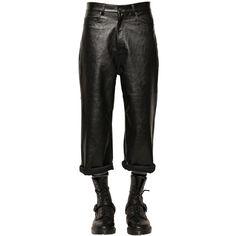 552d6622a3a Cheap Monday Men 15.5cm Cropped Baggy Faux Leather Pants (124 CAD) ❤ liked