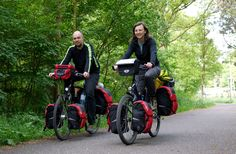 Fully loaded touring in The Netherlands-  This is how they travel on vacation!