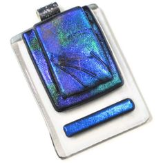 Fused Art Glass Contemporary Pendant Dichroic by coastalartglass, $35.00